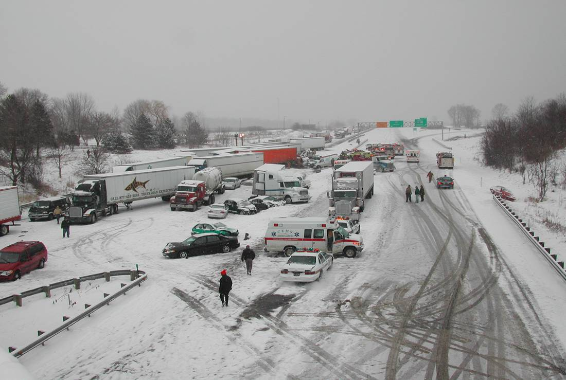 Multiple Winter Snow Accidents